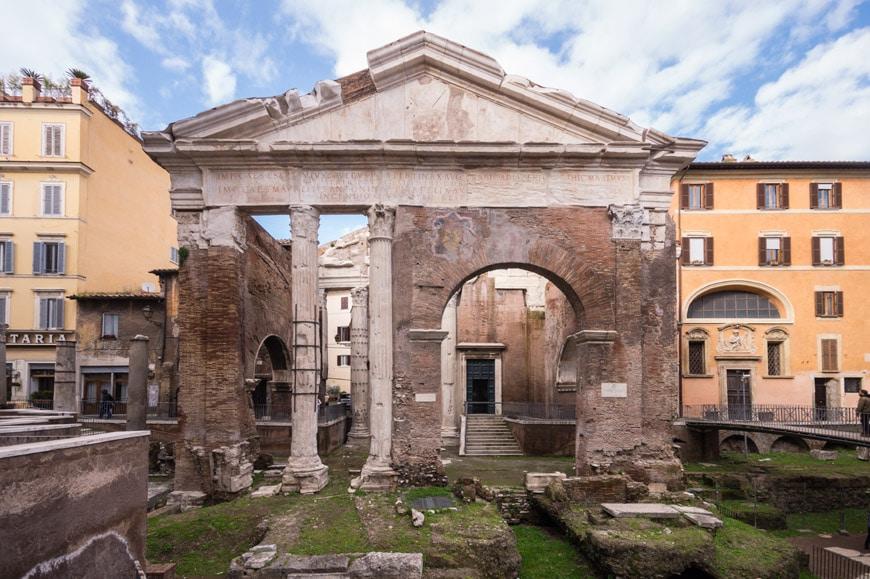 Portico Ottavia Roma Inexhibit