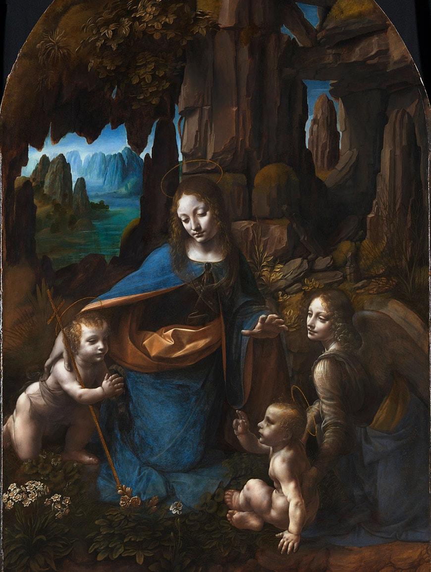 Vergine delle Rocce Leonardo da Vinci National Gallery Londra