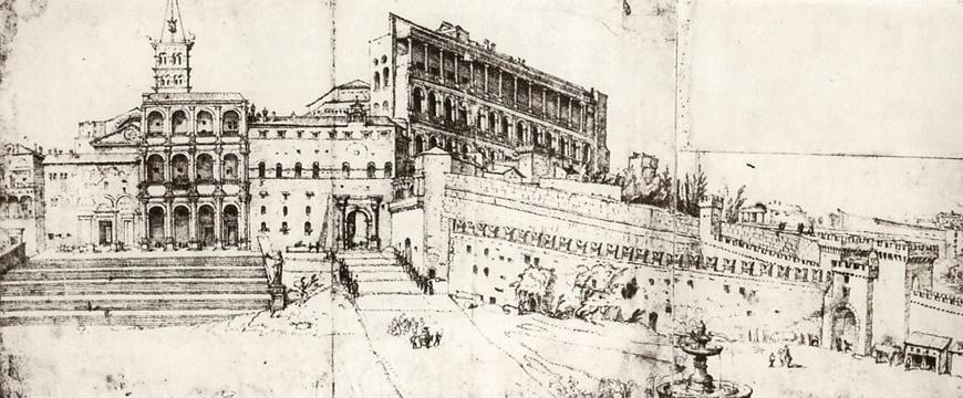 Maarten van Heemskerck Saint Peter's Basilica 16th century