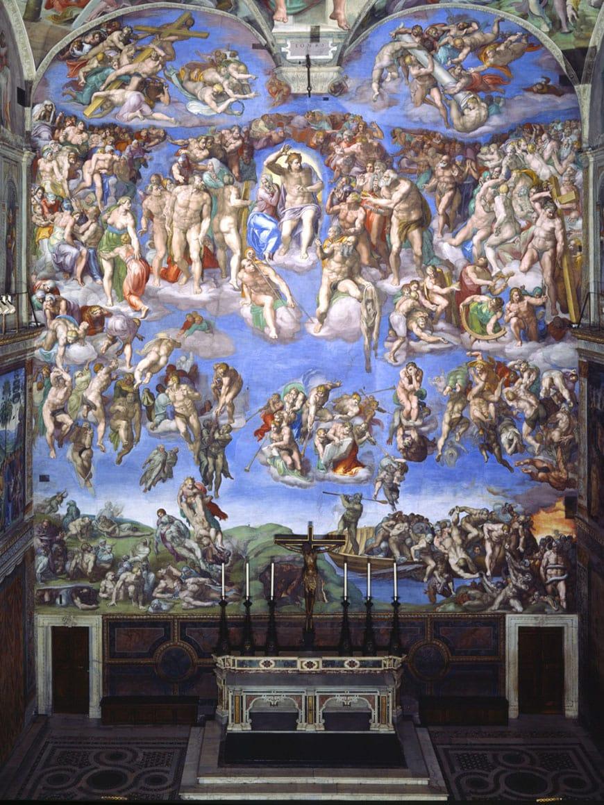 Michelangelo Final Judgment Vatican Museums Rome Giudizio Univerale Musei Vaticani Roma