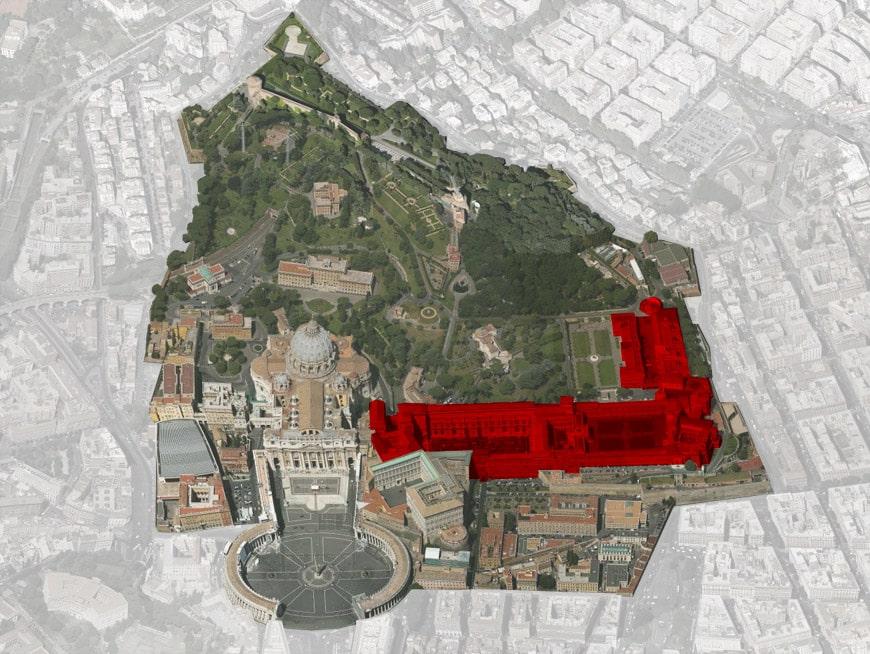 Vatican City - Vatican Museums aerial Inexhibit