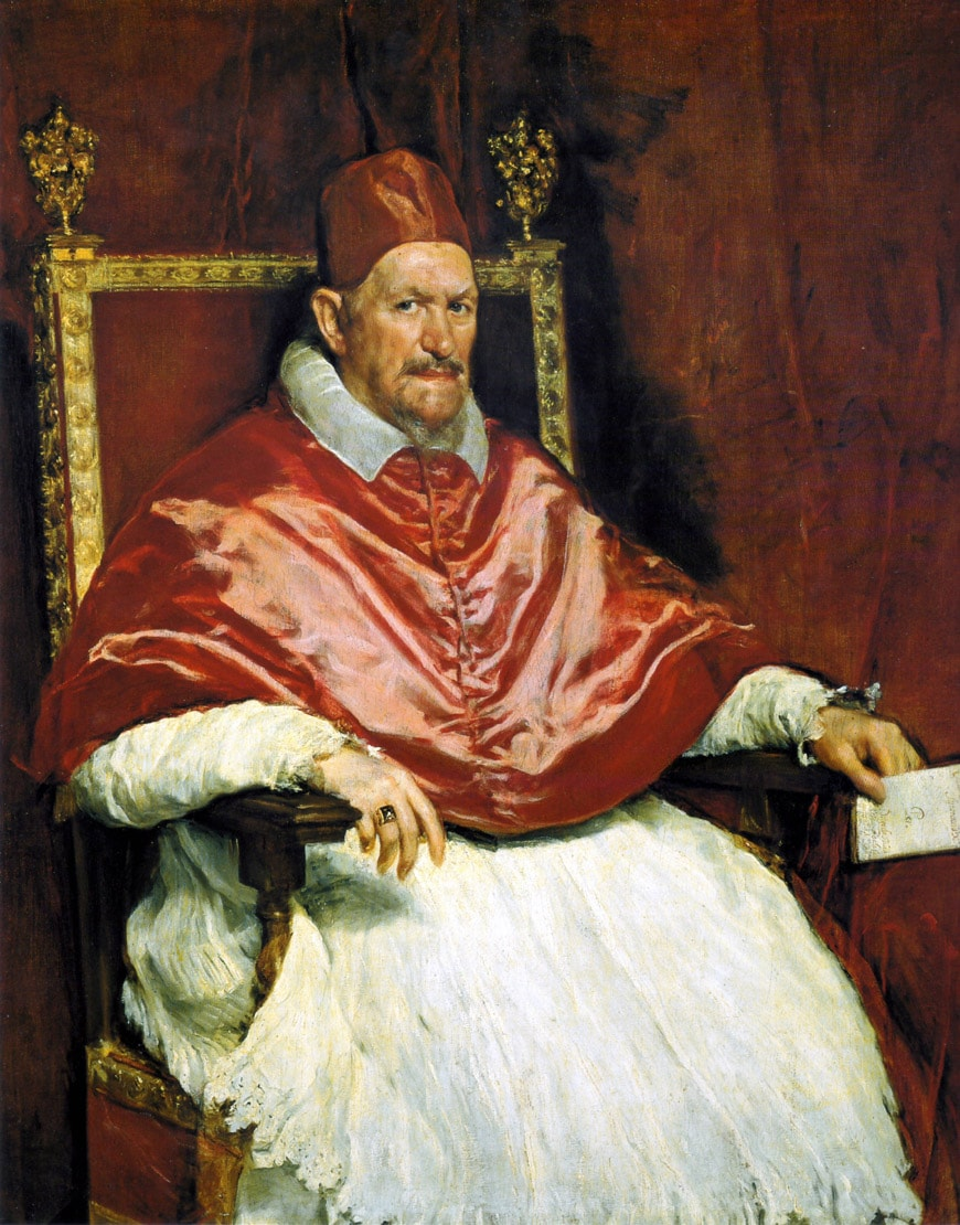Velázquez portrait of Pope Innocent X Doria Pamphilj Gallery Rome