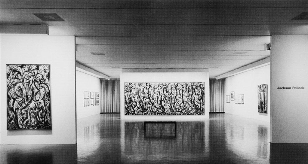 Jackson Pollock exhibition 1967 MoMA The Museum of Modern Art