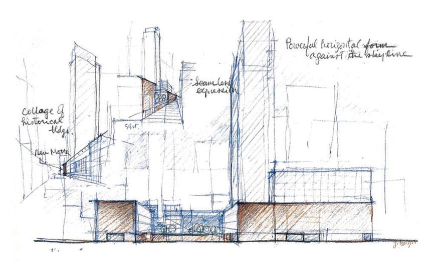 The Museum of Modern Art New York sketch Yoshio Taniguchi
