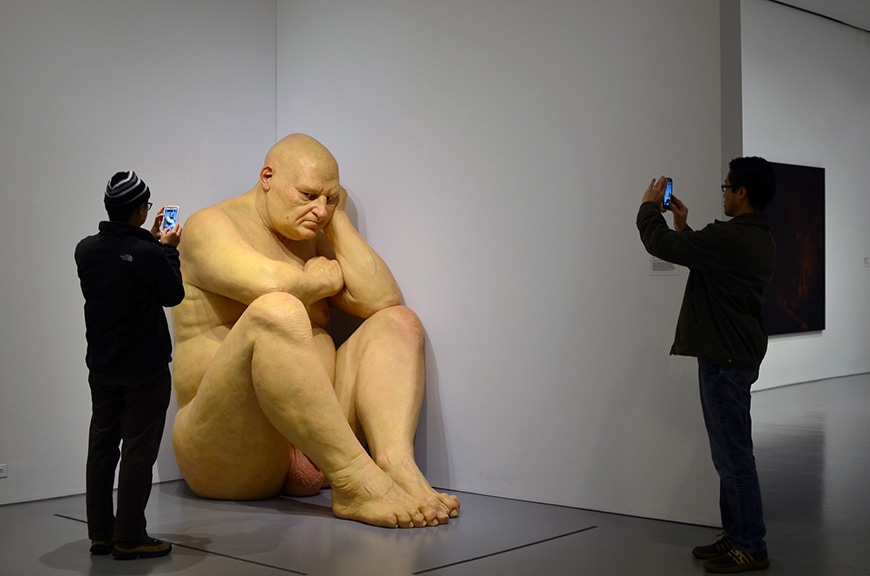 Hirshhorn Museum, Washington DC, Big man sculpture, Ron Mueck