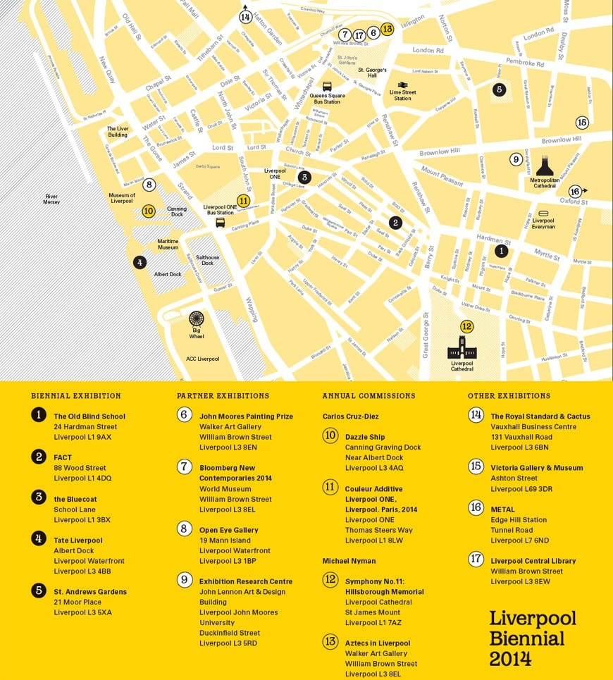 Liverpool biennial 2014 map