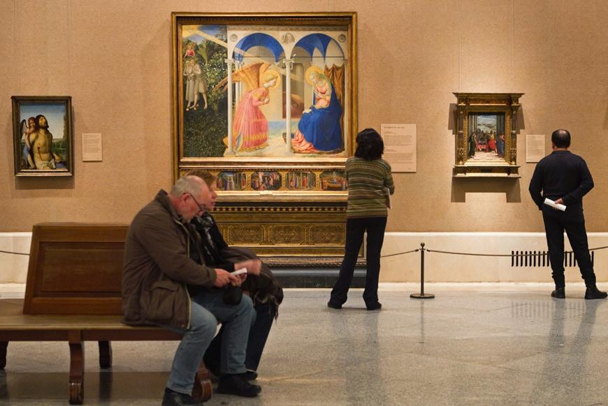 Museo Nacional del Prado Madrid Fra Angelico room