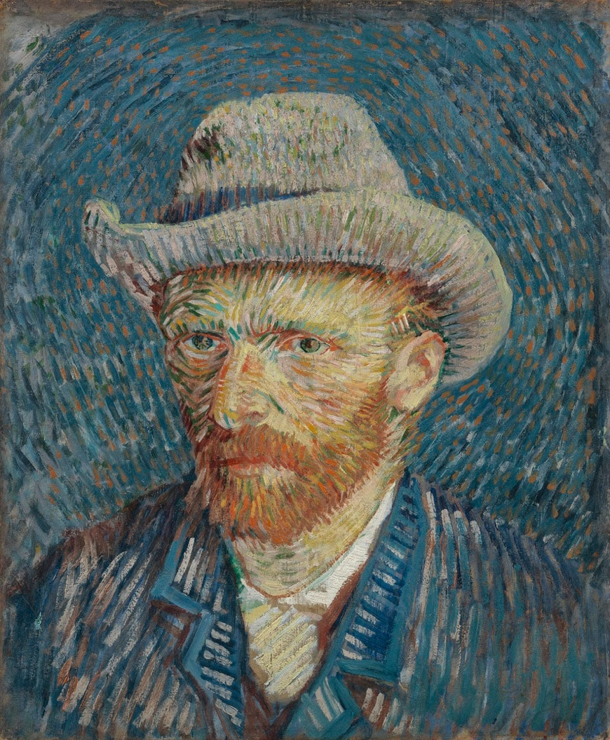 Van Gogh autoritratto con cappello