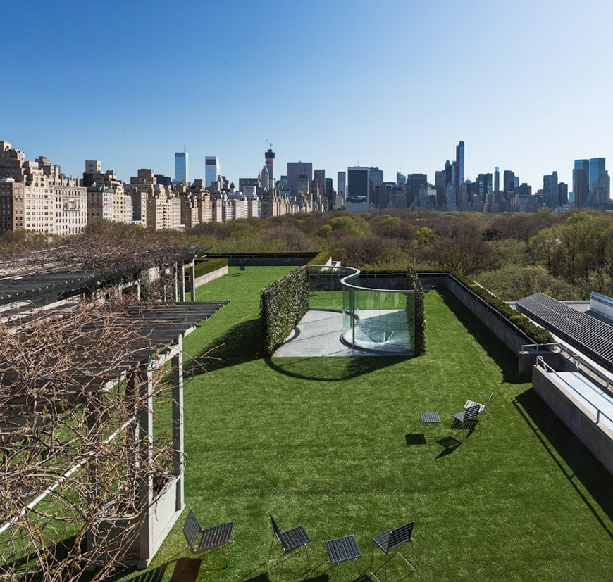 Met inaugurates roof garden commission by cornelia parker for Metropolitan mueseum of art