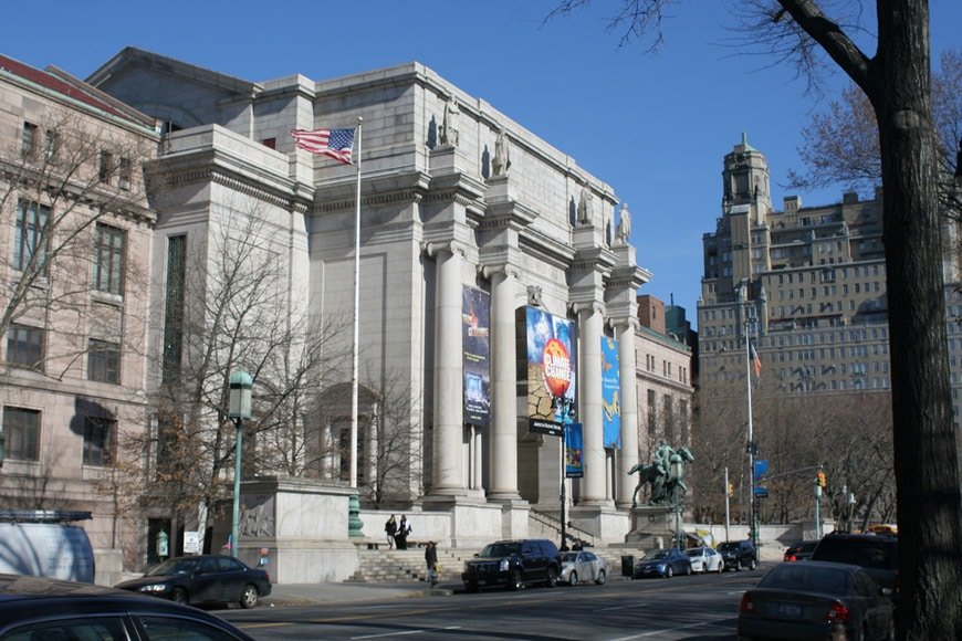 American Museum of Natural History New York facciata su Central Park west