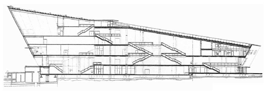 NEMO-science-center-Amsterdam-Renzo-Piano-transverse-section