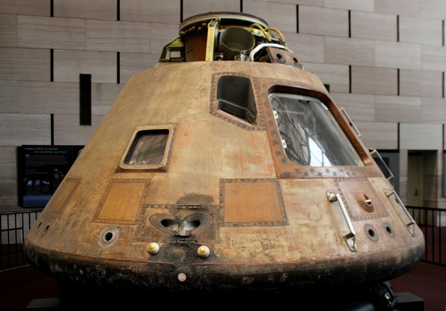 Smithsonian National Air Space Museum Washington DC Apollo 11 command module