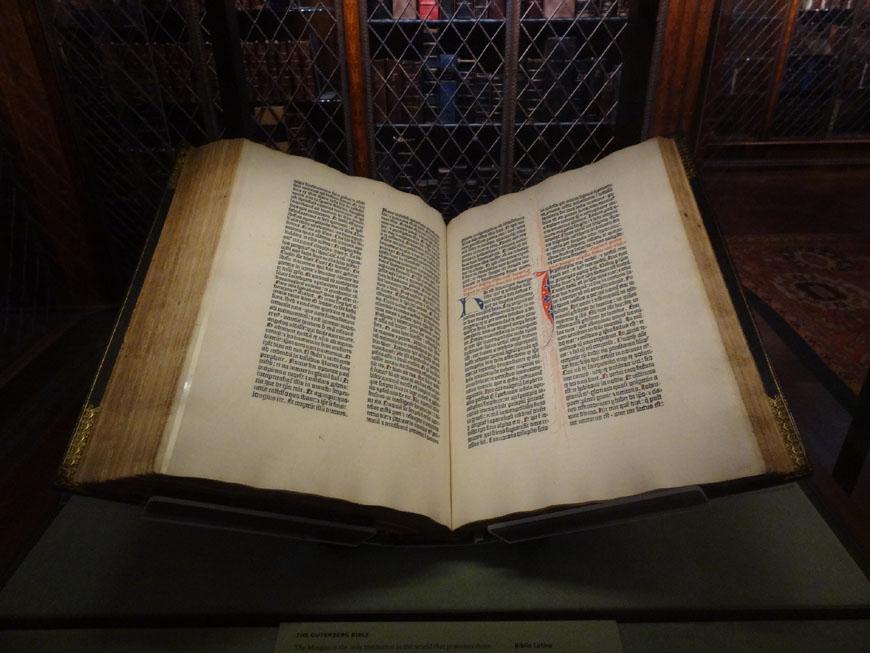 Gutemberg Bible Morgan Library New York