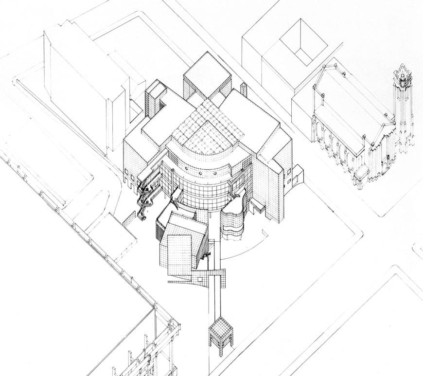 High Museum of Art Atlanta Richard Meier drawing 1