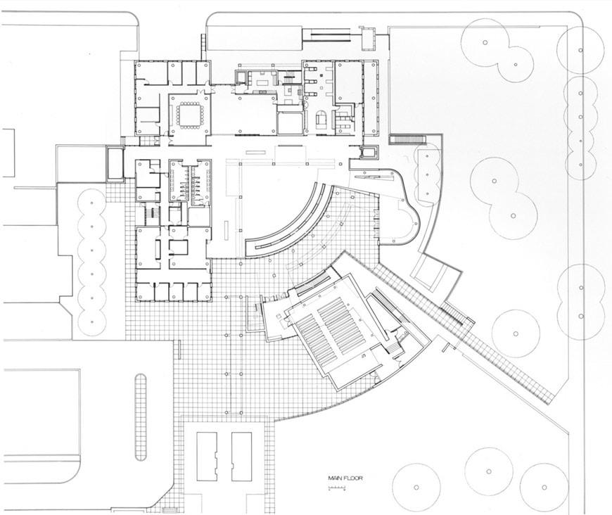 High Museum of Art Atlanta Richard Meier ground floor plan