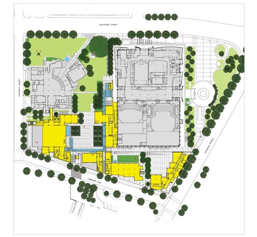 High Museum of Art Atlanta site plan