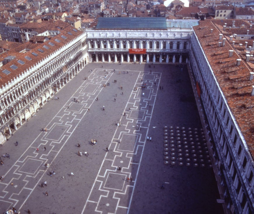 Museo Correr Piazza San Marco aerial