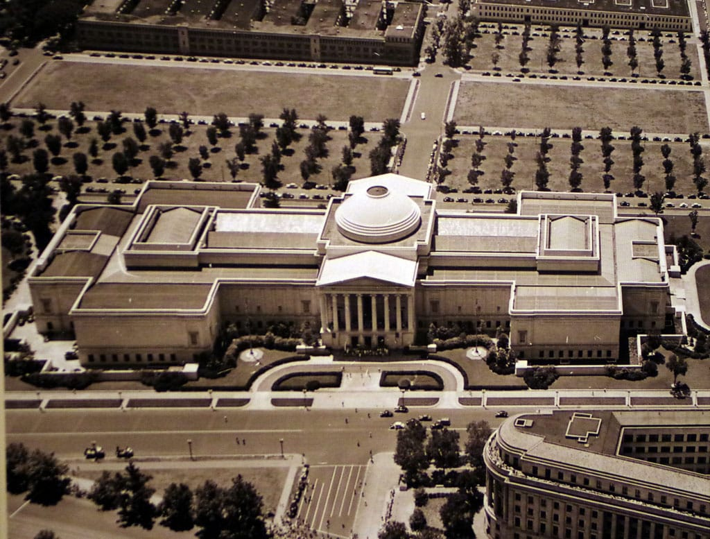 National Gallery of Art Washington aerial 1940