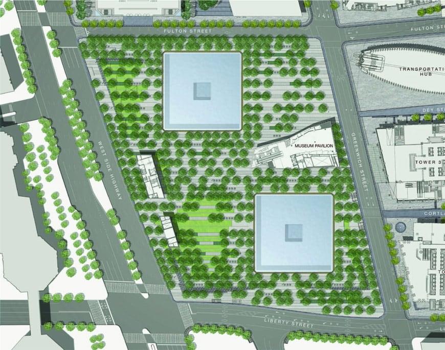 September 11 memorial & museum site plan New York