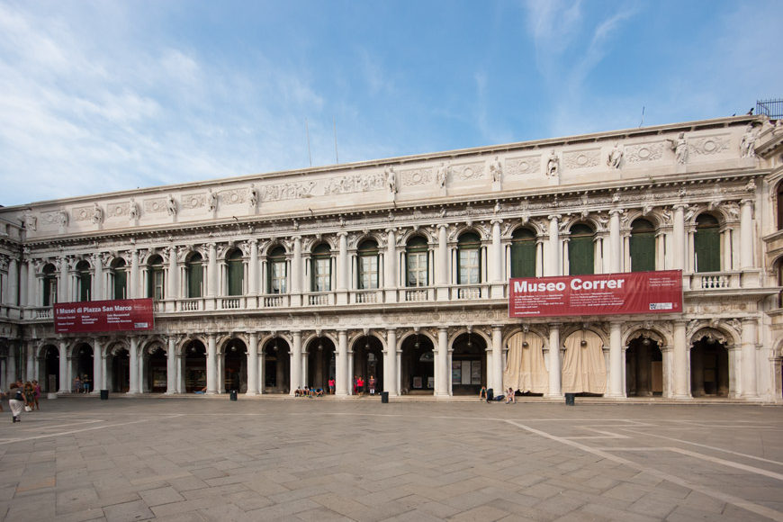 Venice-facade-of-the-Correr-museum-palace-on-St-Marks-Square-Inexhibit
