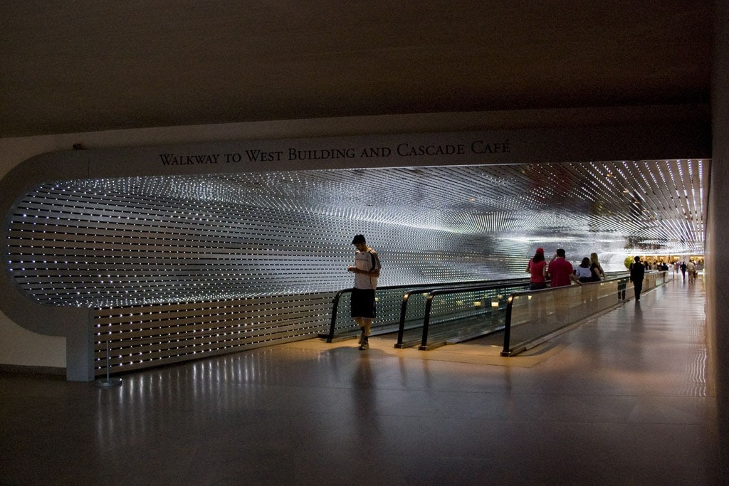 Walkway installation Leo Villareal National Gallery of Art Washington 2