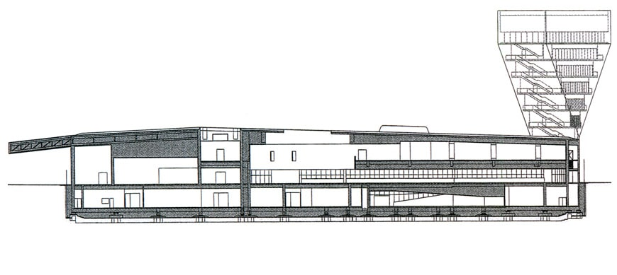 Nice San Francisco Fine Arts Museums #1: De-Young-museum-San-Francisco-Herzog-de-Meuron-architects-cross-section-drawing.jpg