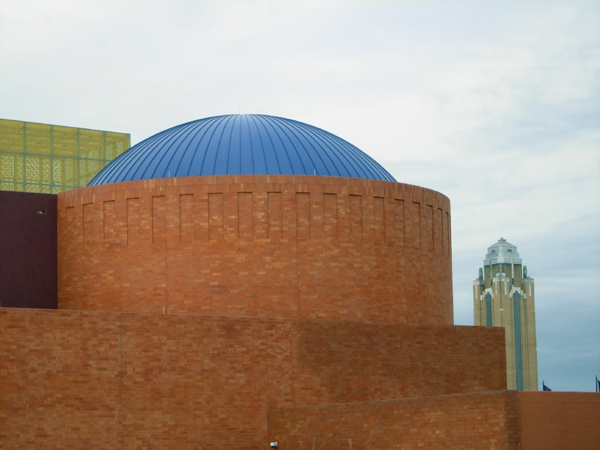 Fort Worth Museum of Science and History IMAX theater dome