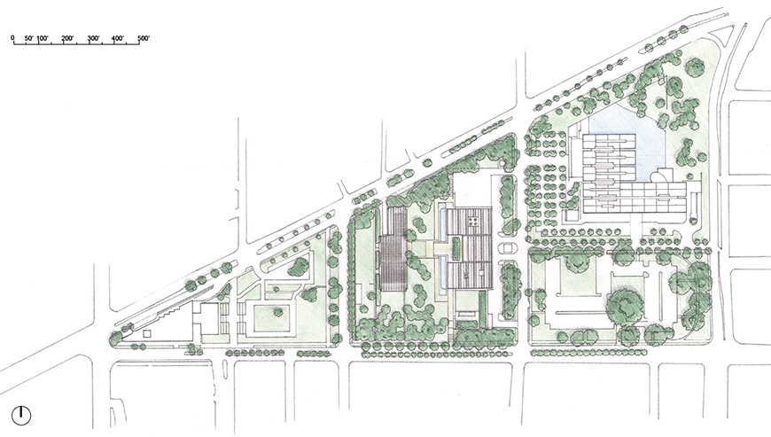 Fort Worth cultural district site plan