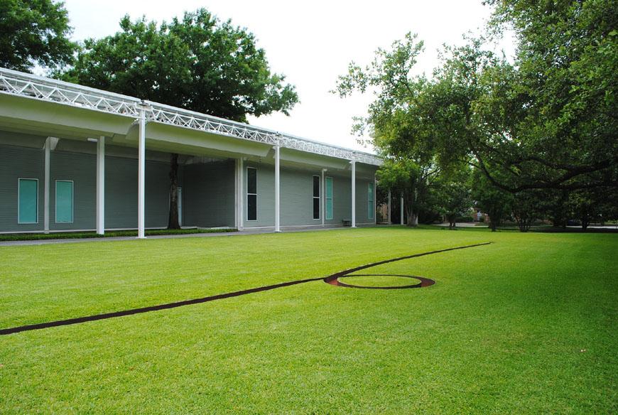 Michael Heizer sculpture Menil Collection Houston