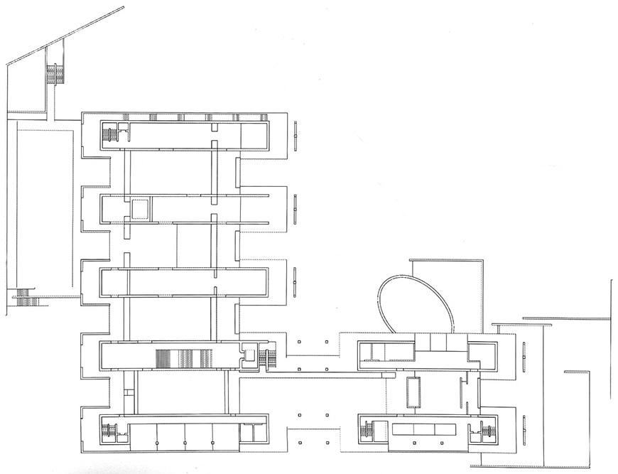 Museum of Modern Art Fort Worth Tadao Ando second floor plan