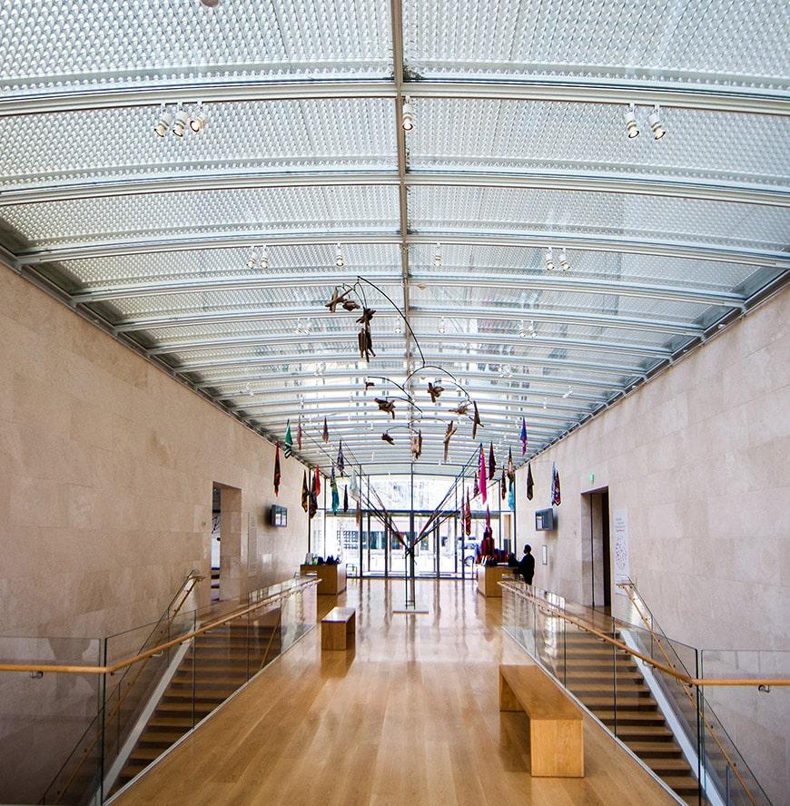 Nasher Sculpture Center Dallas, TX, Renzo Piano, entrance area