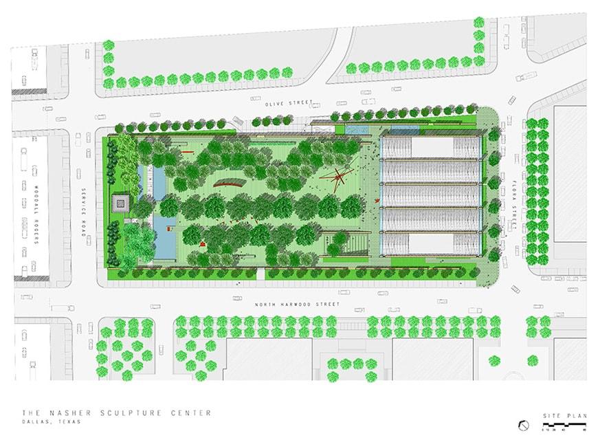 Nasher Sculpture Center Dallas, TX, Renzo Piano, site plan