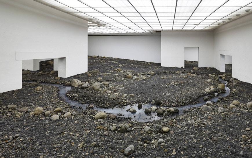 Olafur Eliasson Riverbed exhibition Louisiana museum of art 01