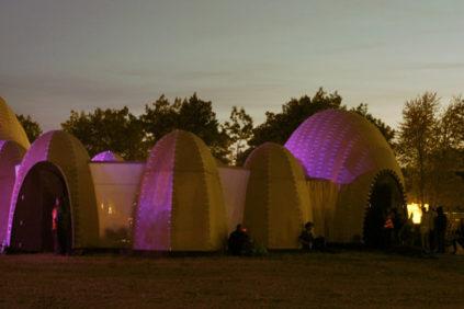 Un padiglione temporaneo a Roskilde