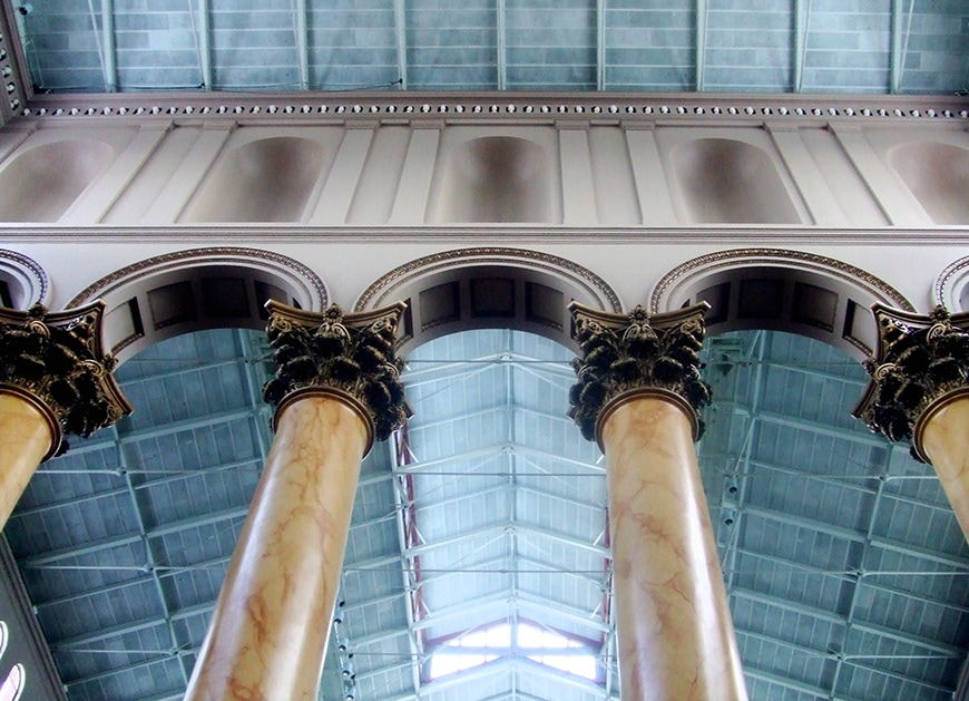 National Building Museum, Washington DC, Corinthian columns