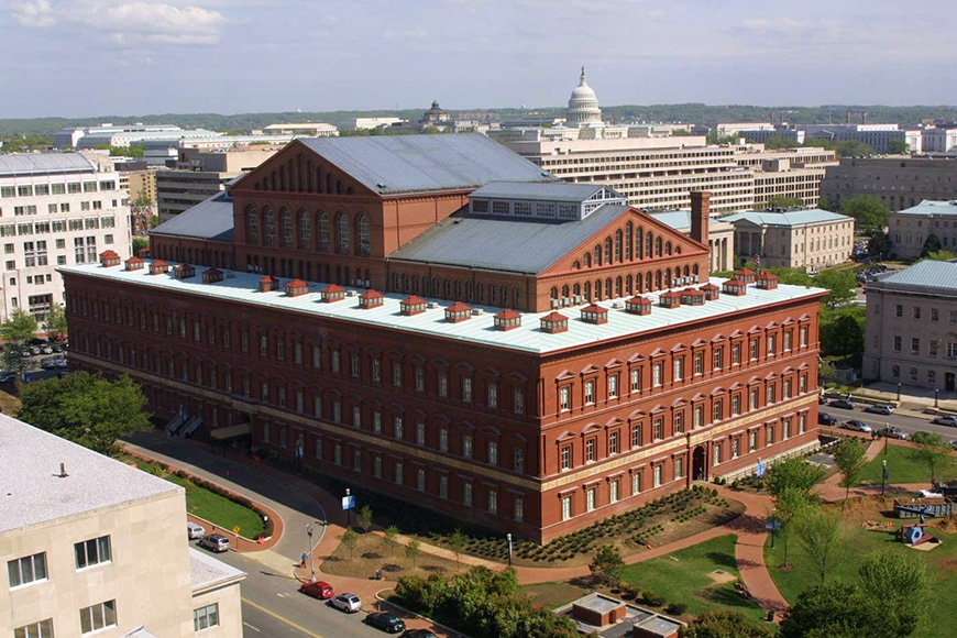 National Building Museum, Washington DC, aerial