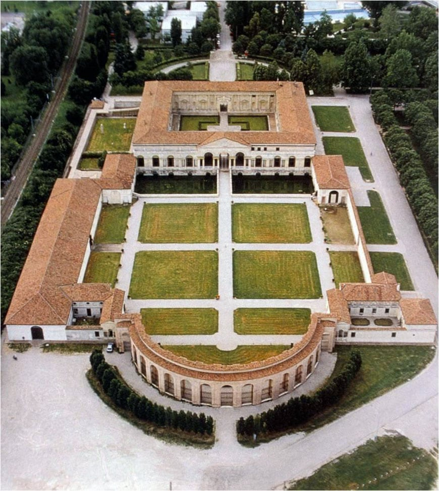 Palazzo Te Mantova Giulio Romano aerial 2