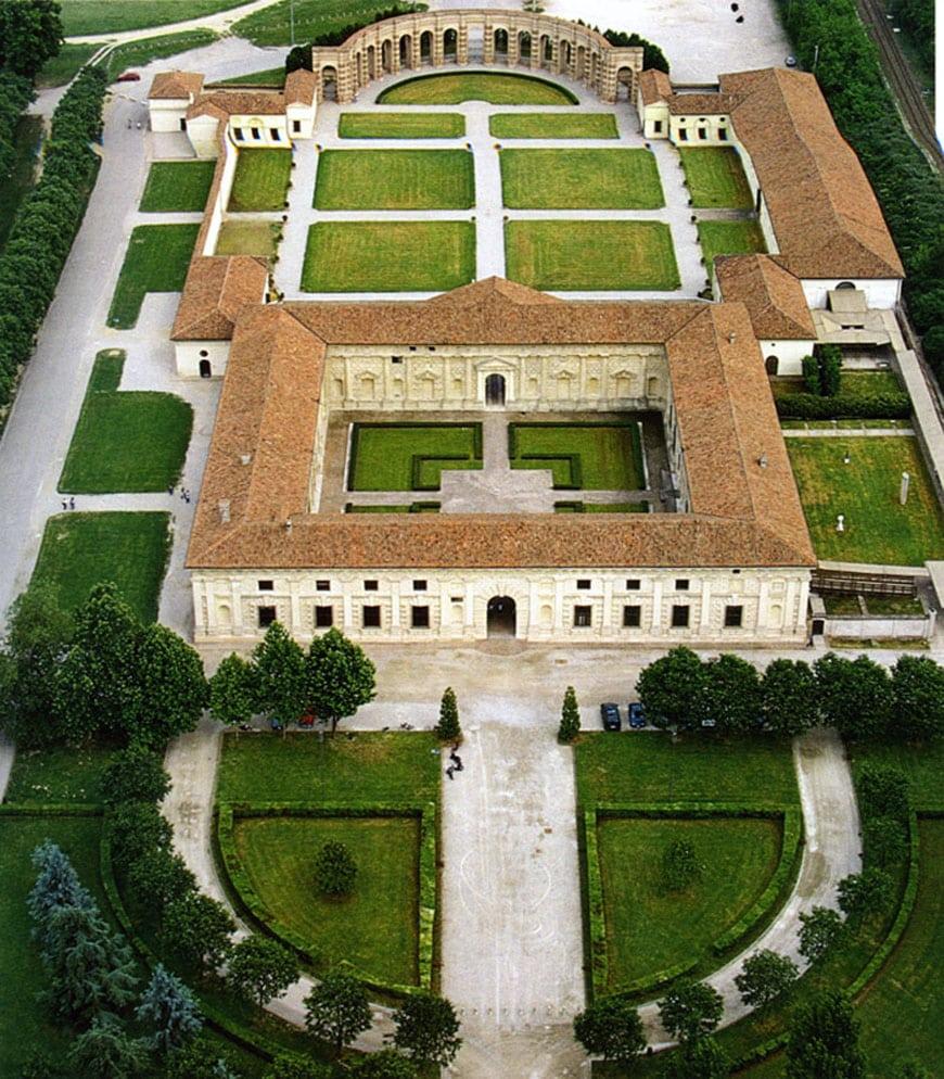 Palazzo Te Mantova Giulio Romano aerial