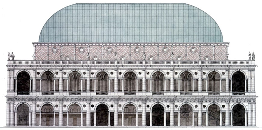 Basilica Palladiana Vicenza north elevation