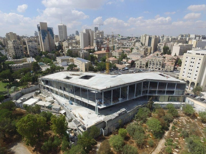 Museum Tolerance Jerusalem MOTJ under construction