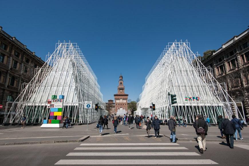 Expo Milan Stands : Milan expo gate pavilions by scandurra studio inexhibit