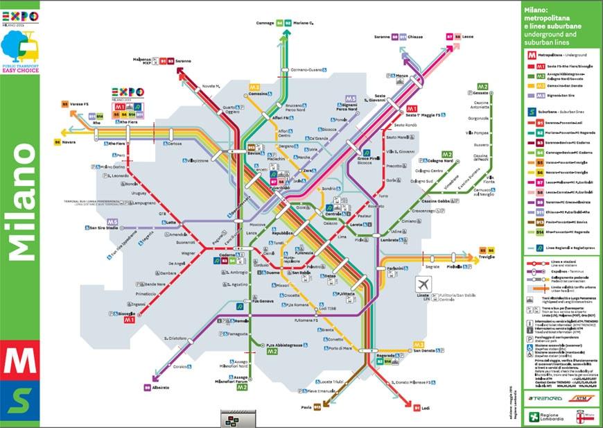 expo 2015 metropolitana underground mappa
