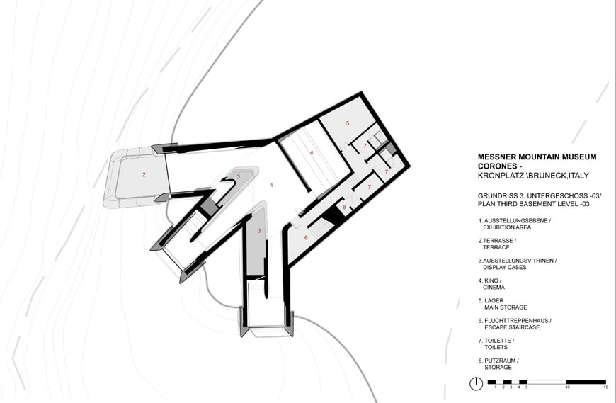 Corones Museum Zaha Hadid Gazing Mountains on small house open floor plan