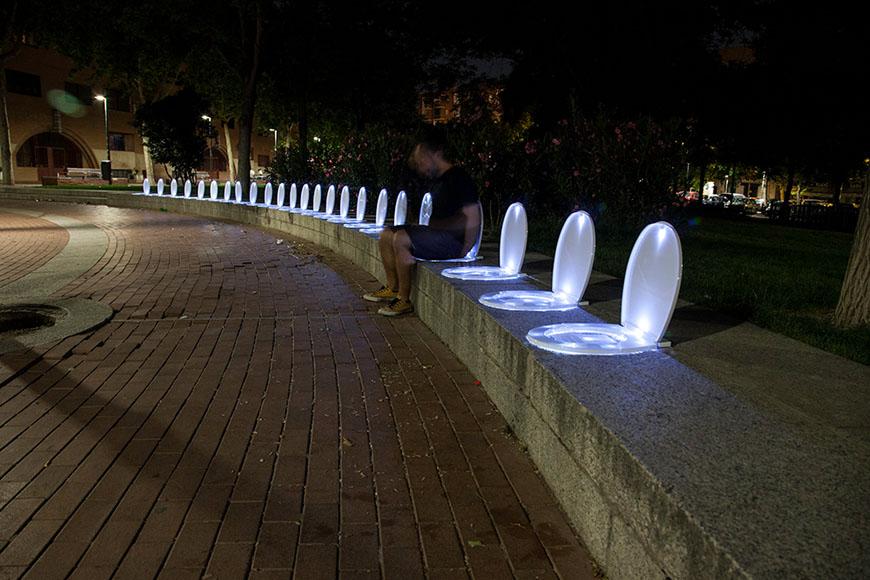 luzinterruptus installation Madrid 2015 05