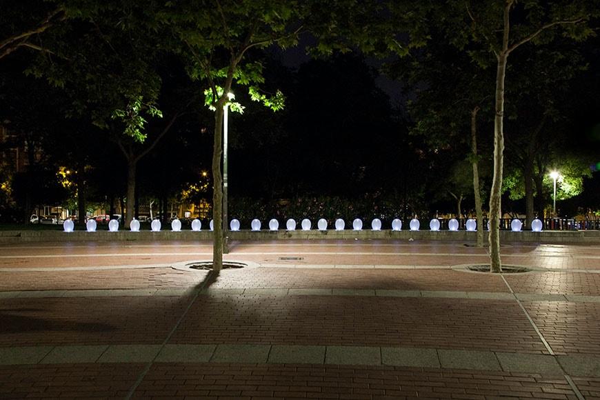 luzinterruptus installation Madrid 2015 09