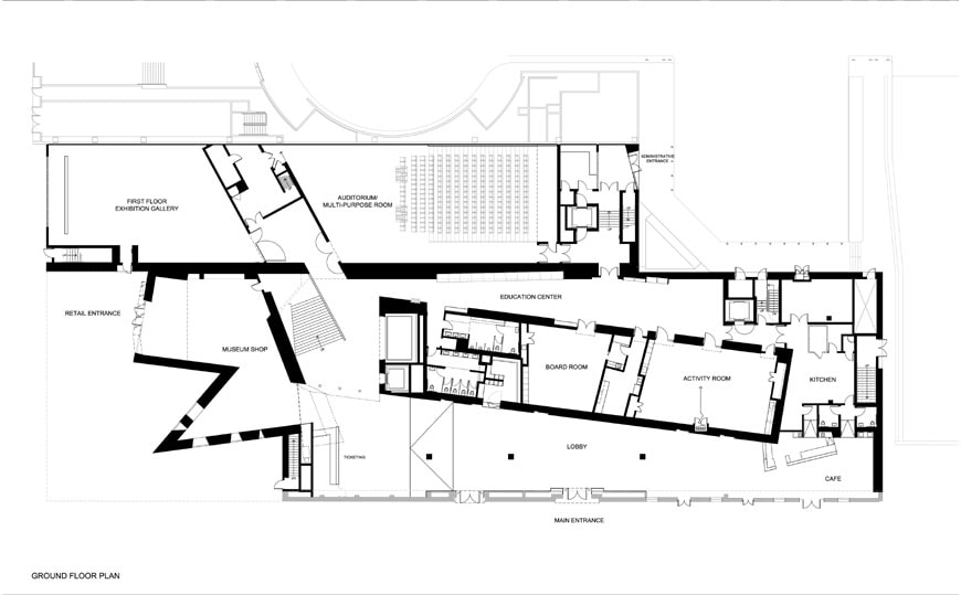 Contemporary Jewish Museum San Francisco Daniel Libeskind floor plan 1