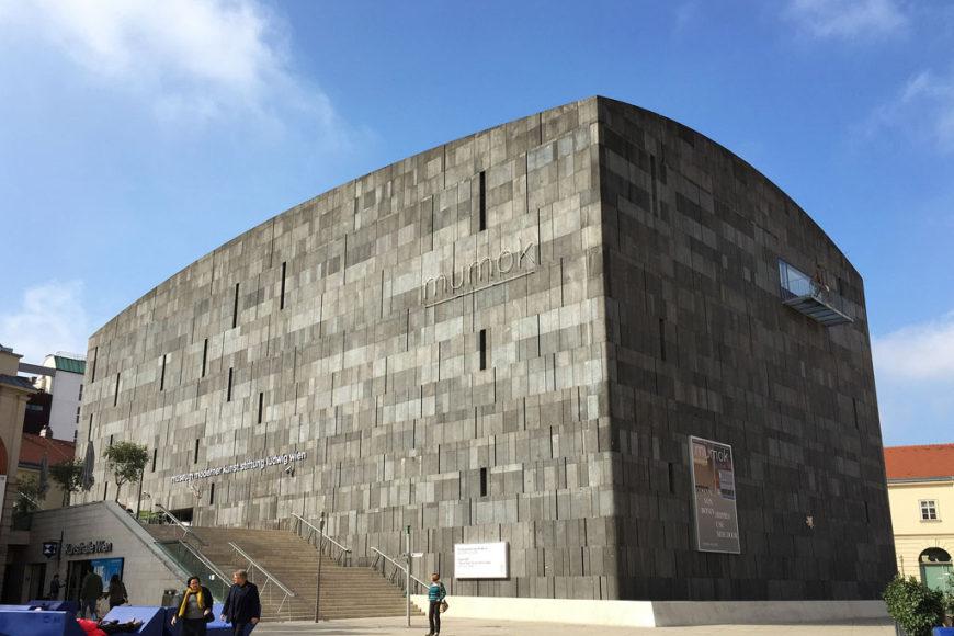 MUMOK museum Vienna exterior view