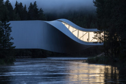 Bjarke Ingels Twist bridge museum Kistefos art park Norway 02
