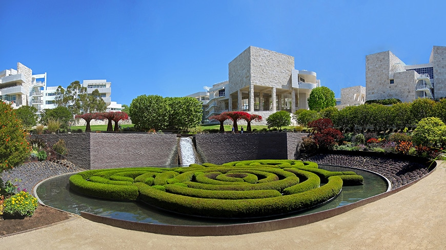 Getty Center, Los Angeles, central garden, Robert Irwin 1