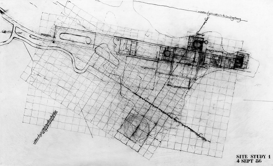 Getty Center, Richard Meier sketch
